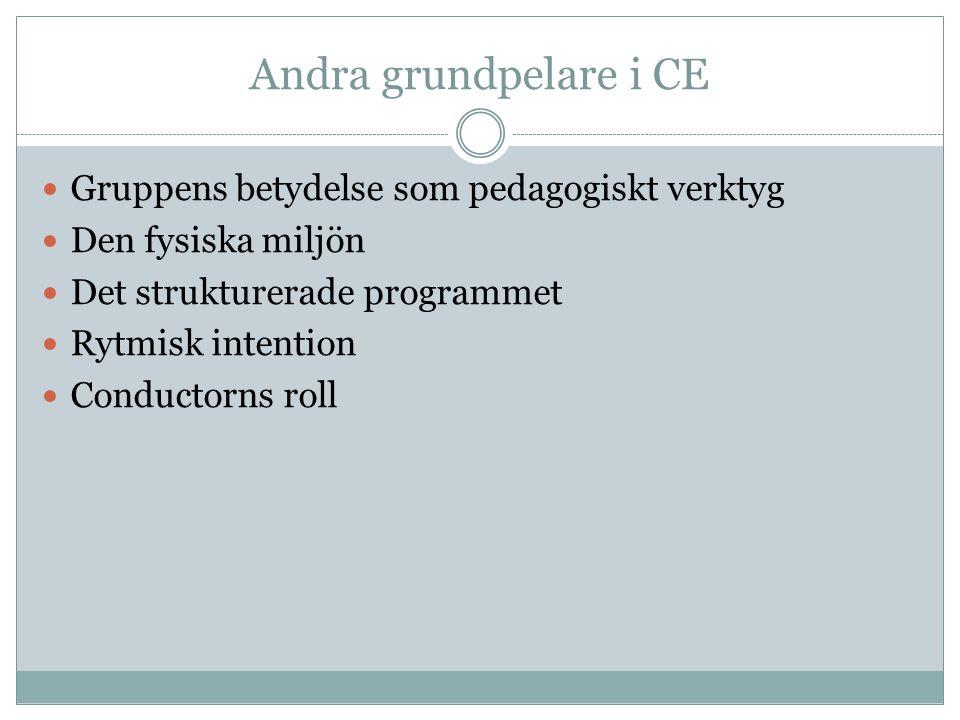 Andra grundpelare i CE Gruppens betydelse som pedagogiskt verktyg