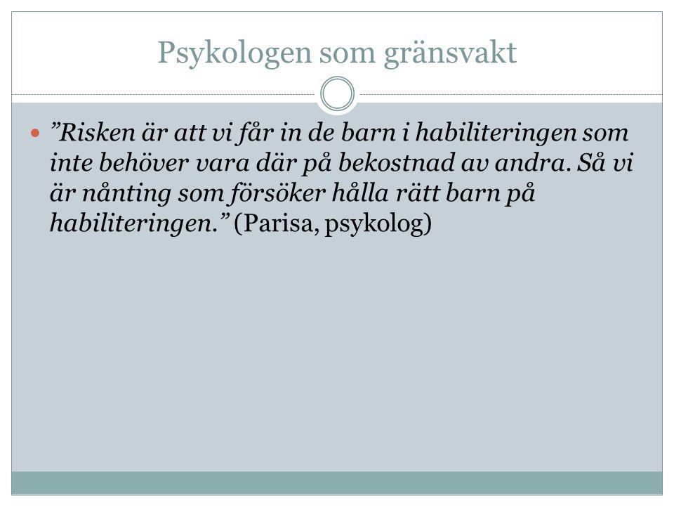 Psykologen som gränsvakt