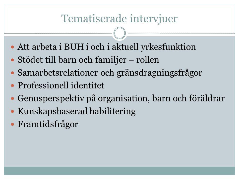 Tematiserade intervjuer