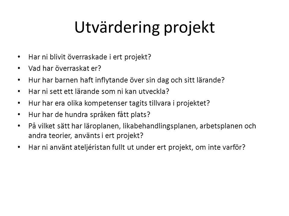Utvärdering projekt Har ni blivit överraskade i ert projekt