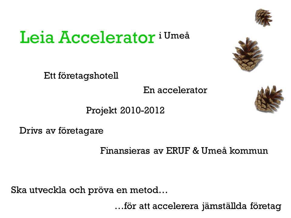 Leia Accelerator i Umeå Ett företagshotell En accelerator