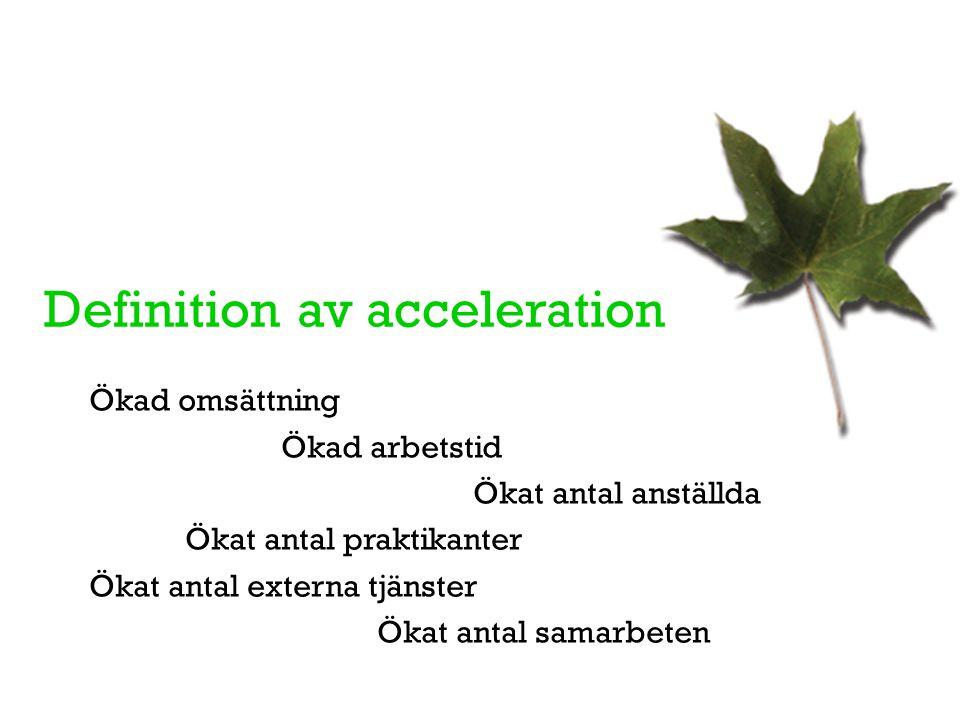 Definition av acceleration