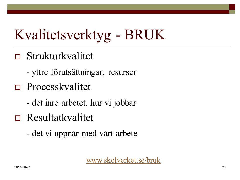 Kvalitetsverktyg - BRUK