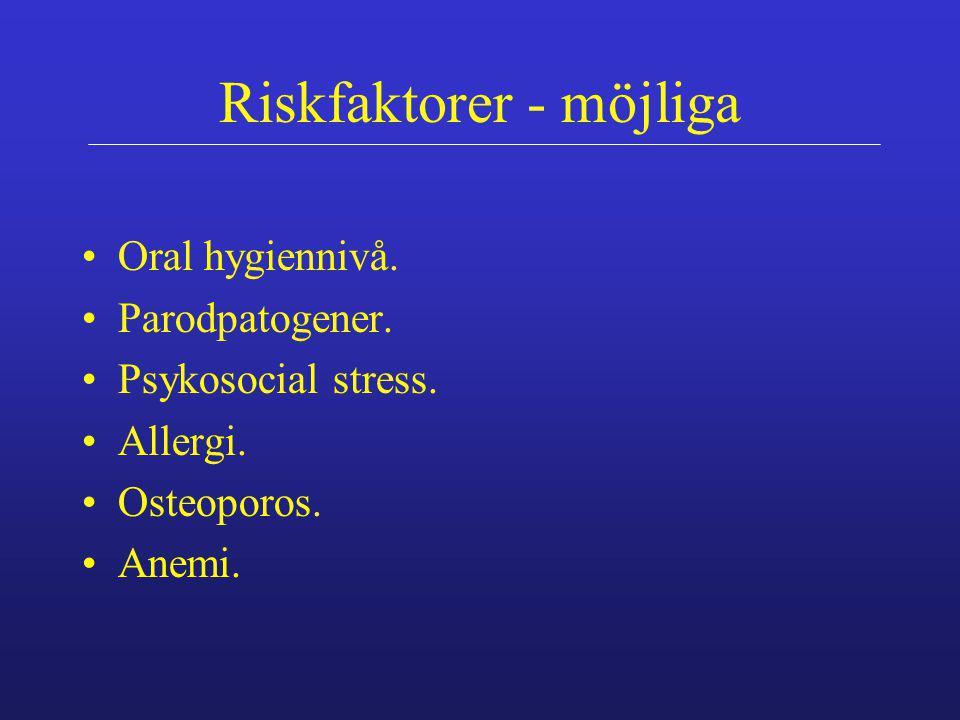 Riskfaktorer - möjliga