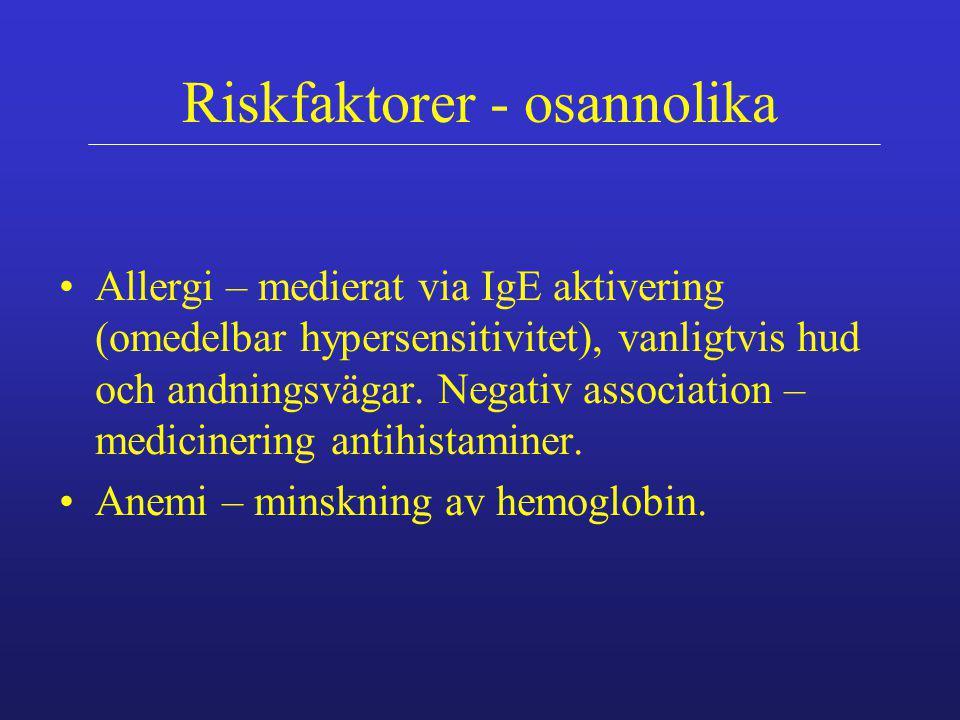 Riskfaktorer - osannolika