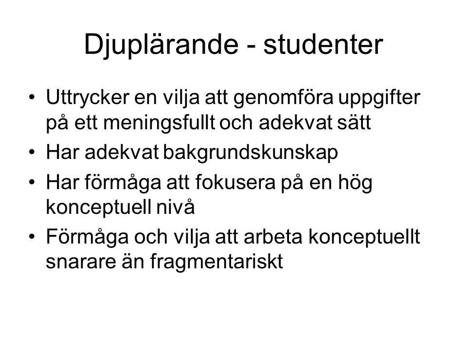 Djuplärande - studenter