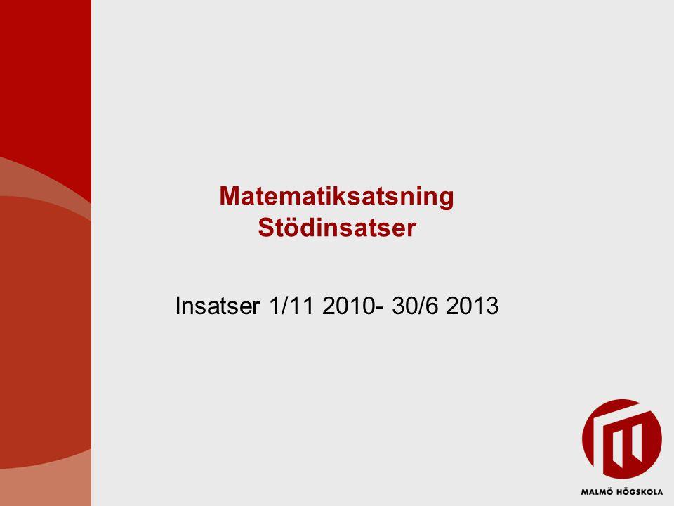 Matematiksatsning Stödinsatser