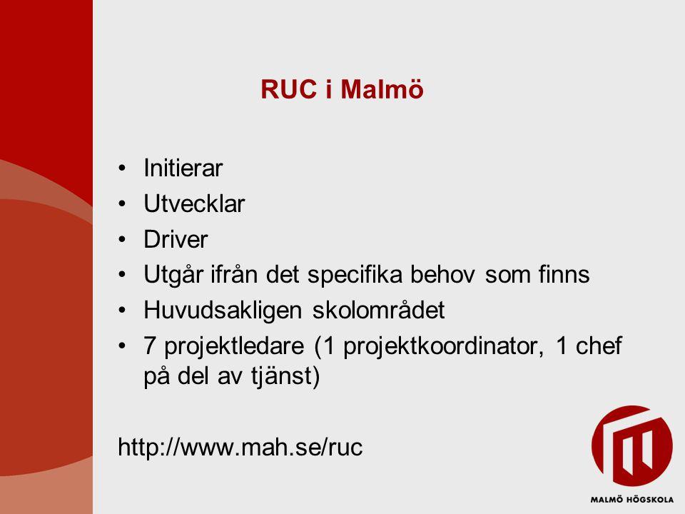 RUC i Malmö Initierar Utvecklar Driver