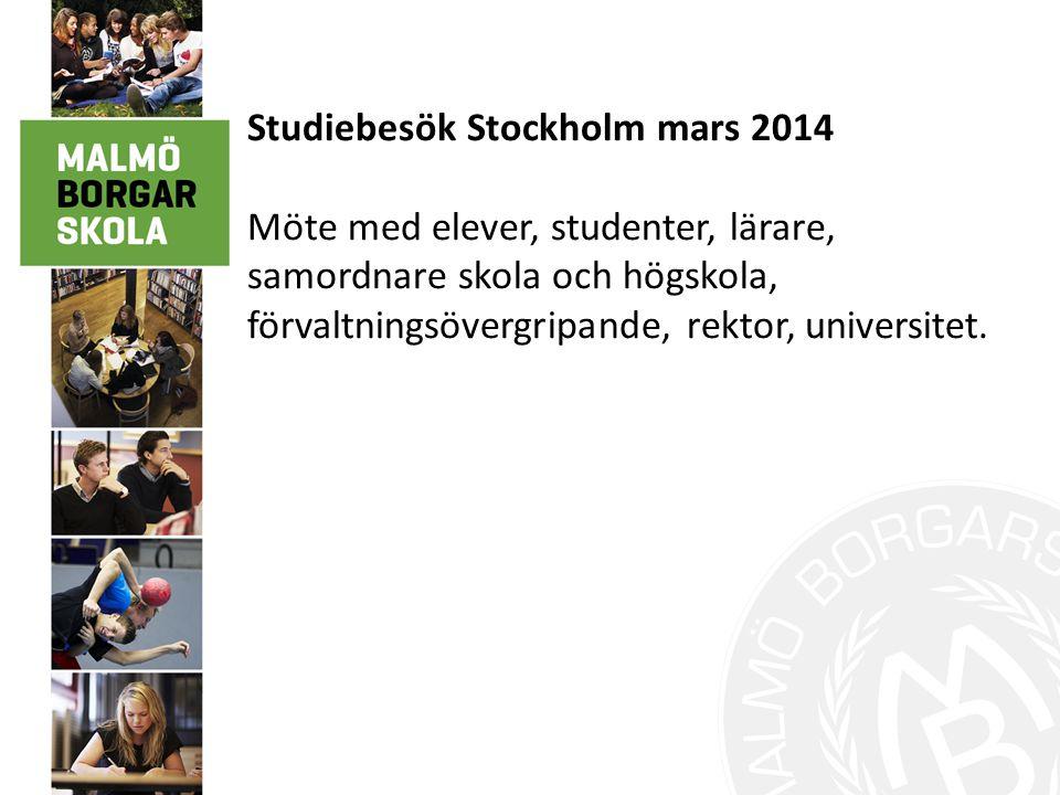 Studiebesök Stockholm mars 2014
