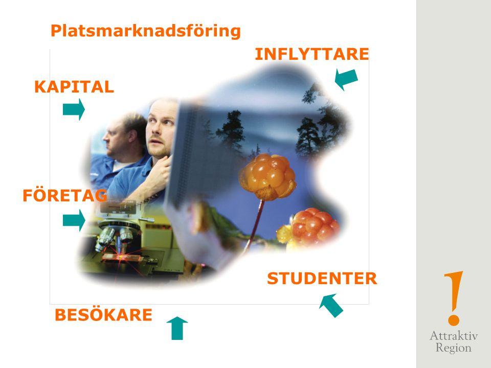 Platsmarknadsföring INFLYTTARE KAPITAL FÖRETAG STUDENTER BESÖKARE