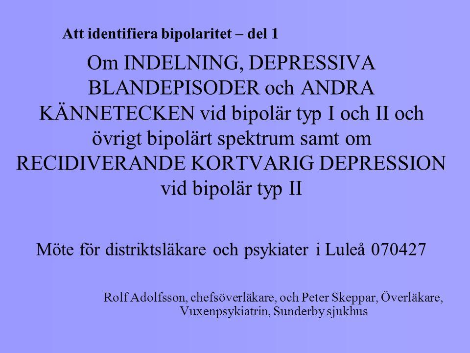 Att identifiera bipolaritet – del 1