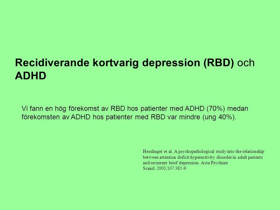Recidiverande kortvarig depression (RBD) och ADHD