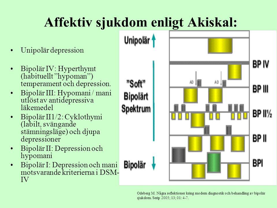 Affektiv sjukdom enligt Akiskal: