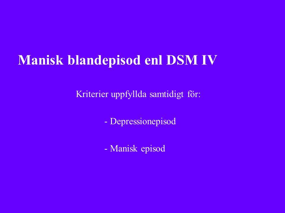 Manisk blandepisod enl DSM IV