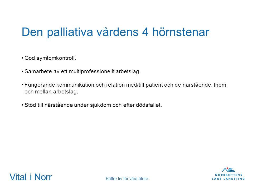 Den palliativa vårdens 4 hörnstenar