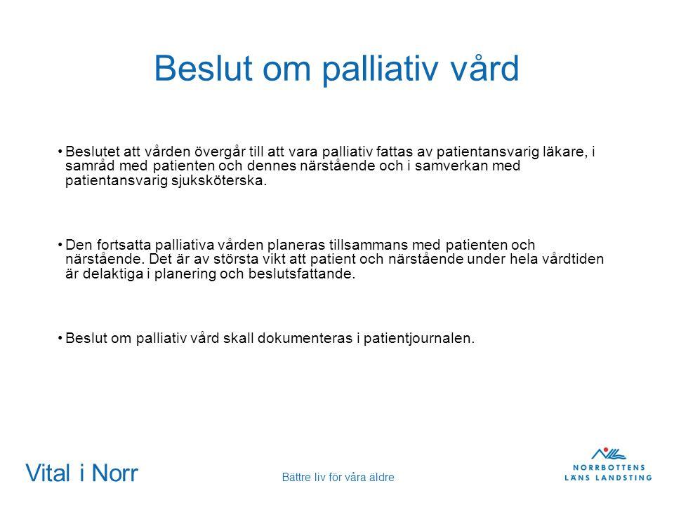Beslut om palliativ vård