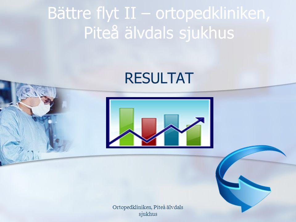 Bättre flyt II – ortopedkliniken, Piteå älvdals sjukhus