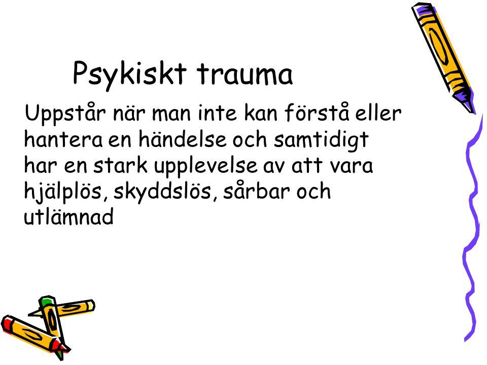 Psykiskt trauma