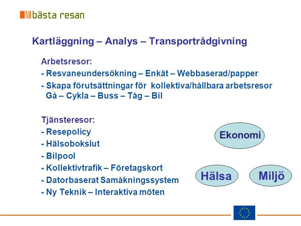 Kartläggning – Analys – Transportrådgivning