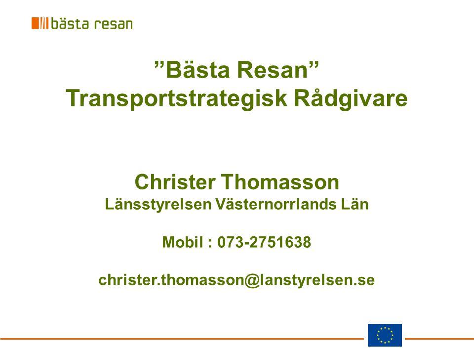 Transportstrategisk Rådgivare Länsstyrelsen Västernorrlands Län