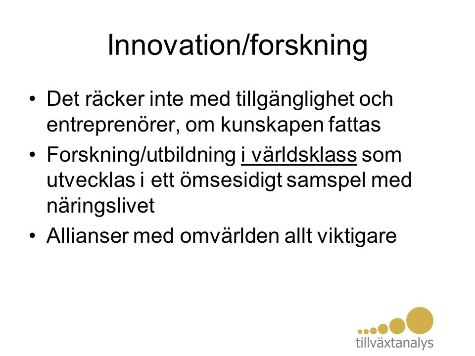 Innovation/forskning