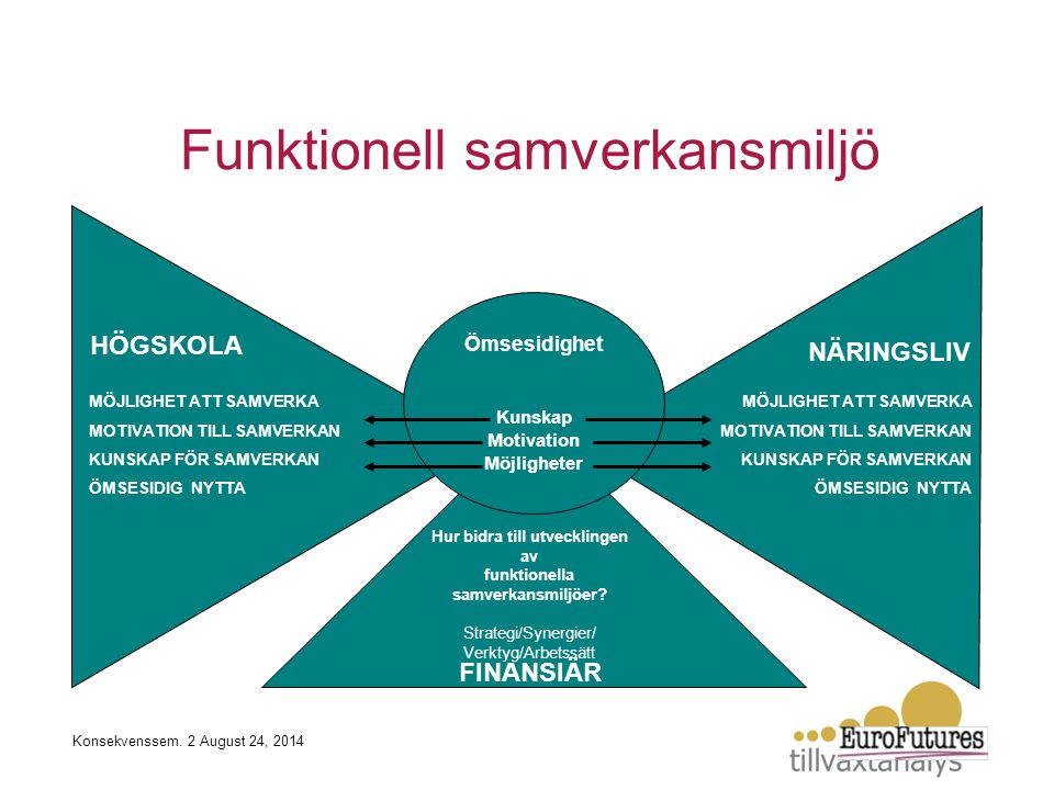 Hur bidra till utvecklingen av funktionella samverkansmiljöer