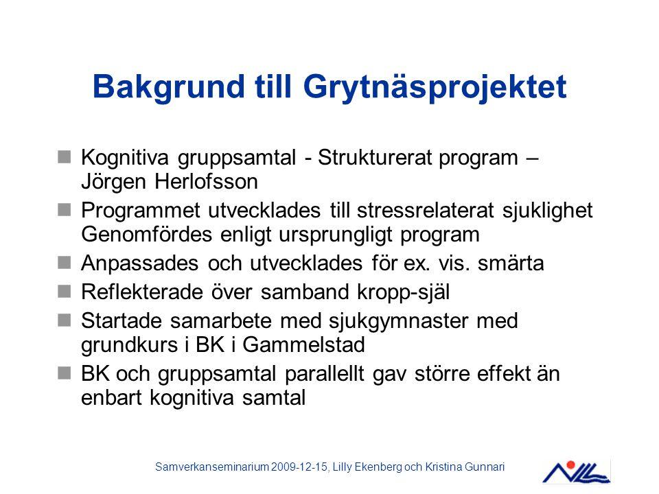 Bakgrund till Grytnäsprojektet