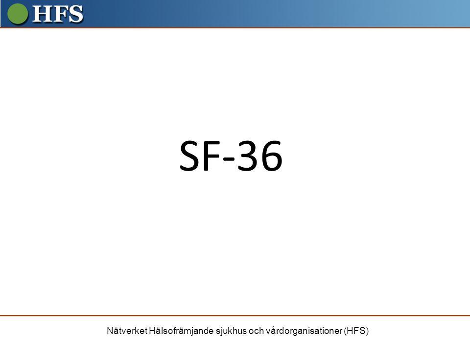 SF-36 Det vi idag ska inrikta oss på SF= Short form
