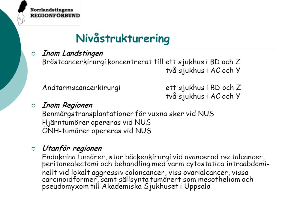 Nivåstrukturering Inom Landstingen