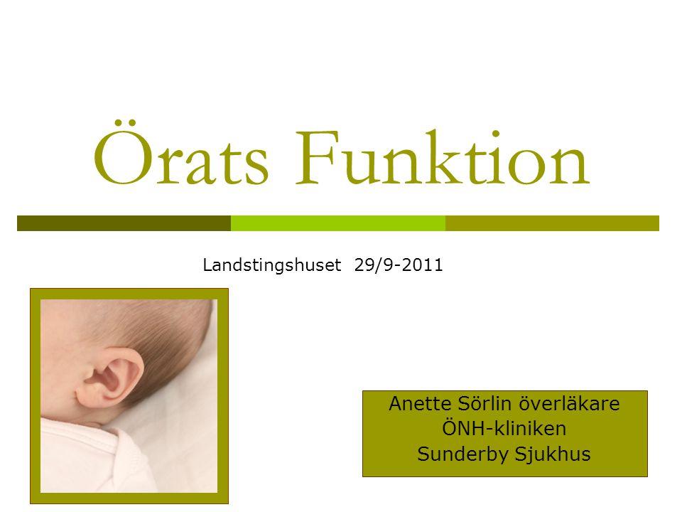 Anette Sörlin överläkare ÖNH-kliniken Sunderby Sjukhus