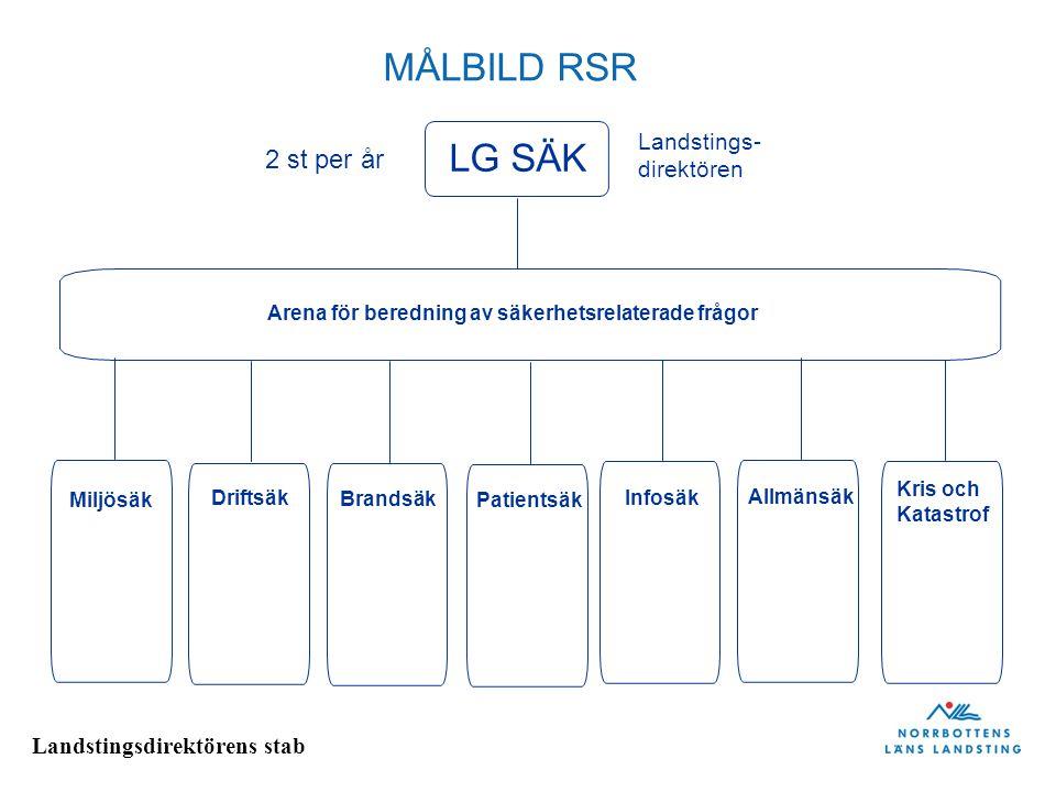 MÅLBILD RSR LG SÄK 2 st per år Landstings- direktören