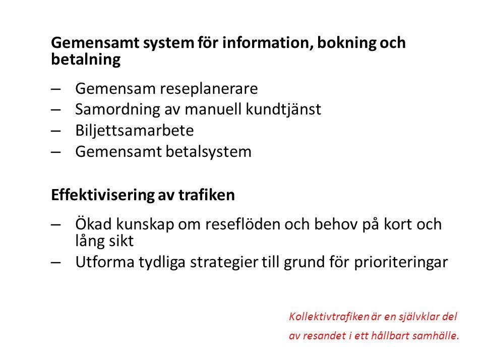 Gemensamt system för information, bokning och betalning