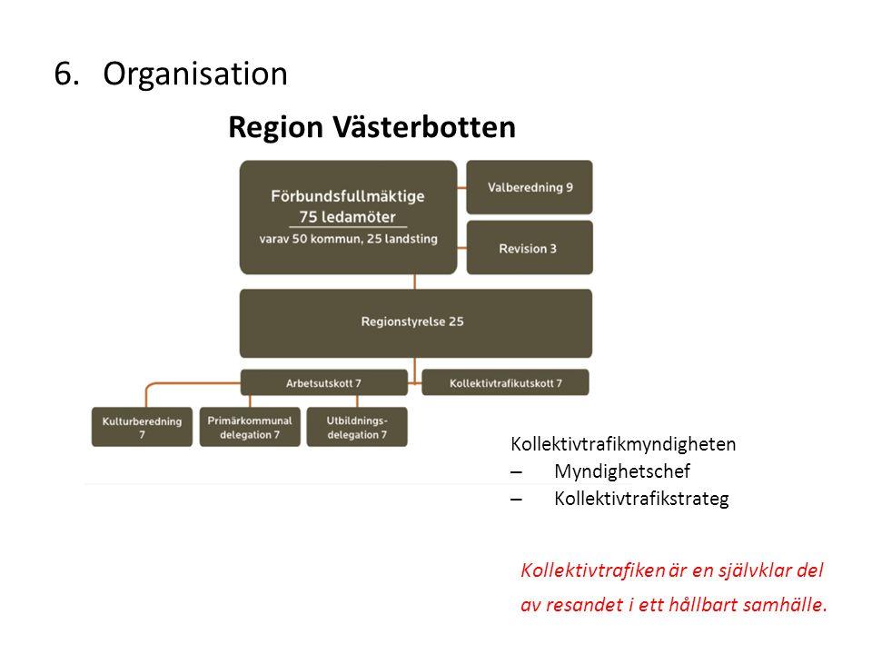 Organisation Region Västerbotten Kollektivtrafikmyndigheten