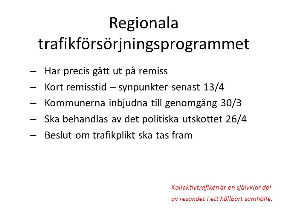 Regionala trafikförsörjningsprogrammet