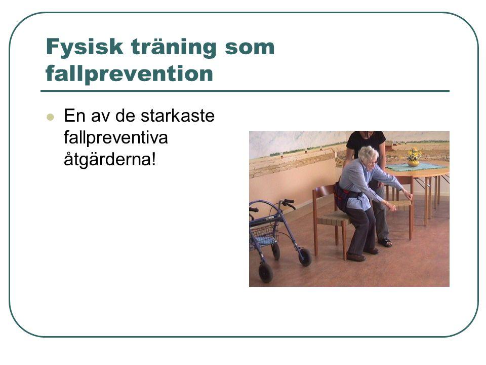 Fysisk träning som fallprevention