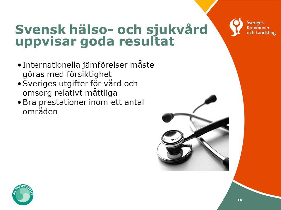 Svensk hälso- och sjukvård uppvisar goda resultat