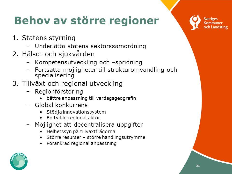 Behov av större regioner