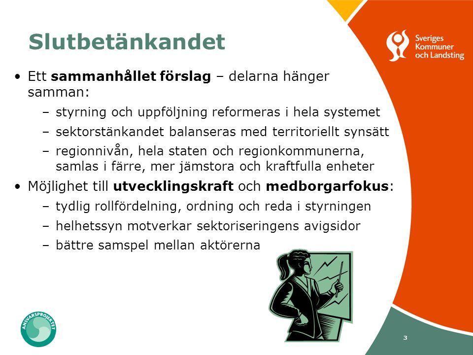 Slutbetänkandet Ett sammanhållet förslag – delarna hänger samman: