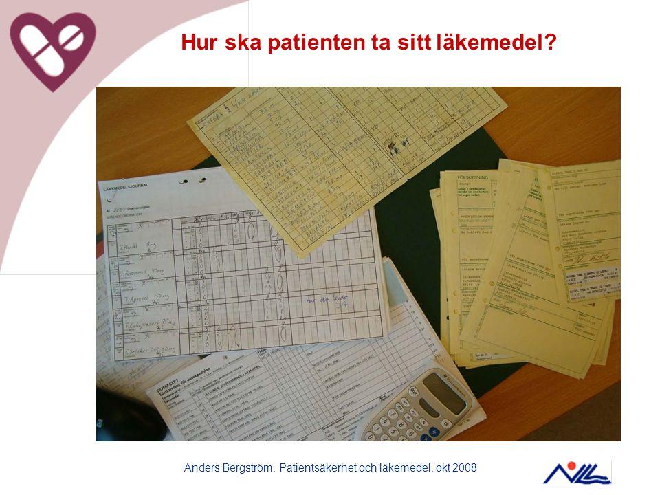 Hur ska patienten ta sitt läkemedel