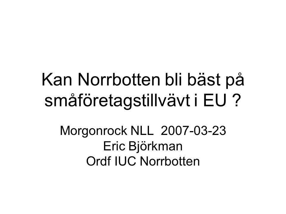 Kan Norrbotten bli bäst på småföretagstillvävt i EU