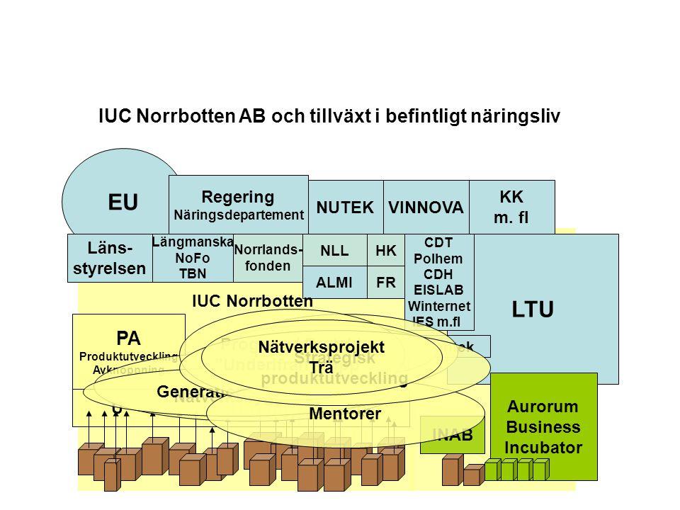 EU LTU IUC Norrbotten AB och tillväxt i befintligt näringsliv