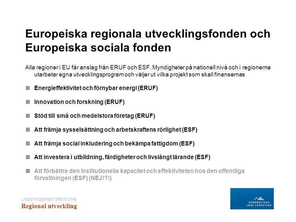 Europeiska regionala utvecklingsfonden och Europeiska sociala fonden