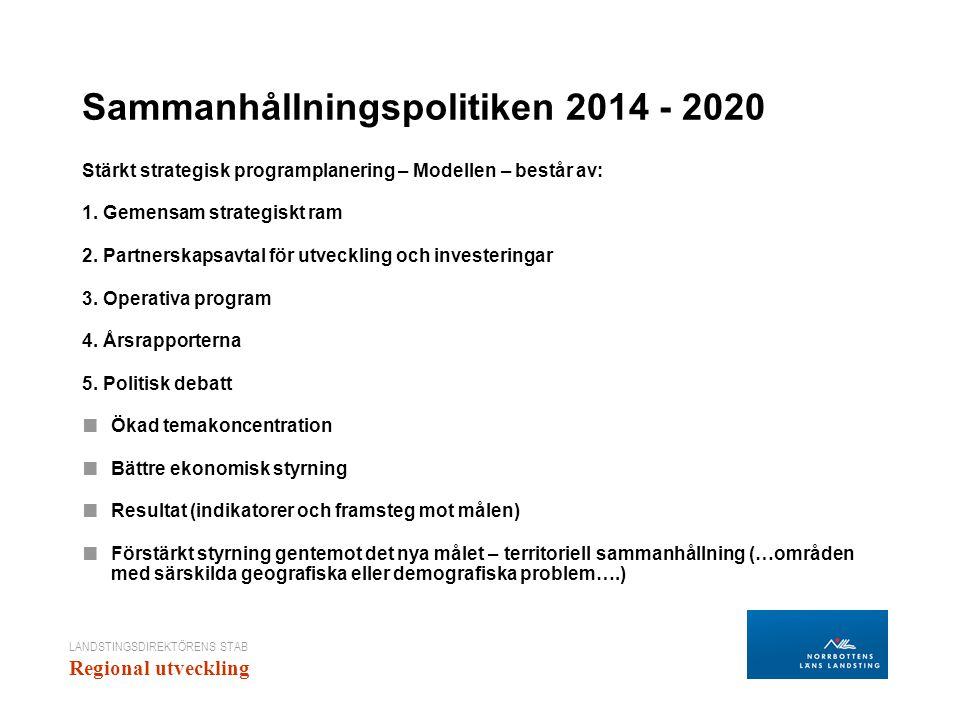 Sammanhållningspolitiken 2014 - 2020