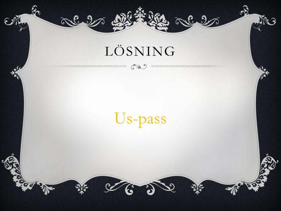 Lösning Us-pass