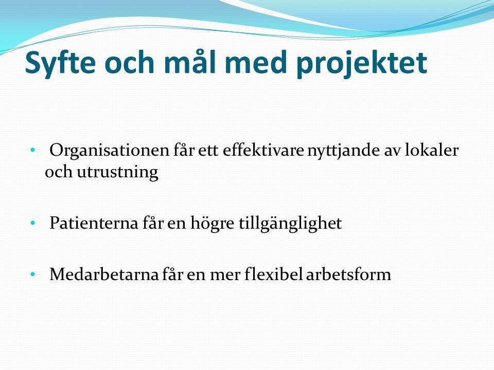 Syfte och mål med projektet