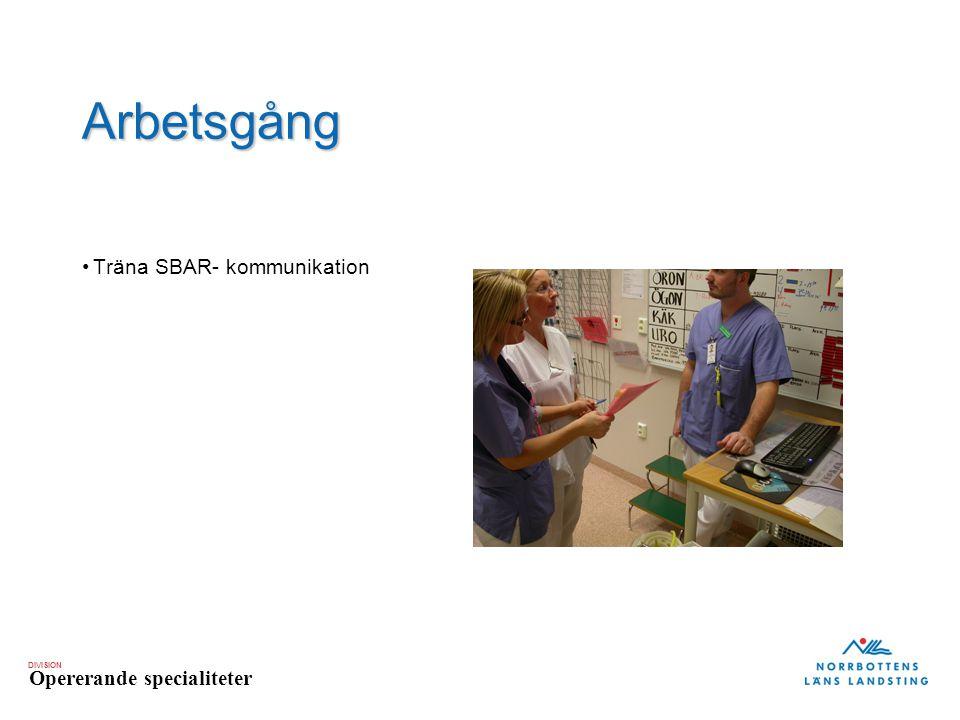 Arbetsgång Träna SBAR- kommunikation 20