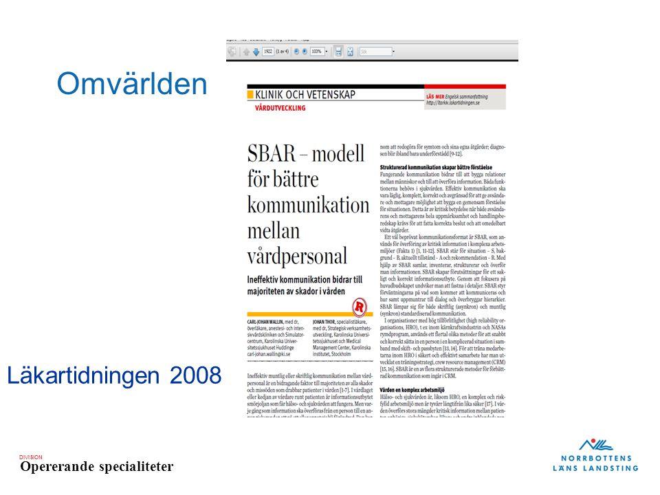 Omvärlden Läkartidningen 2008