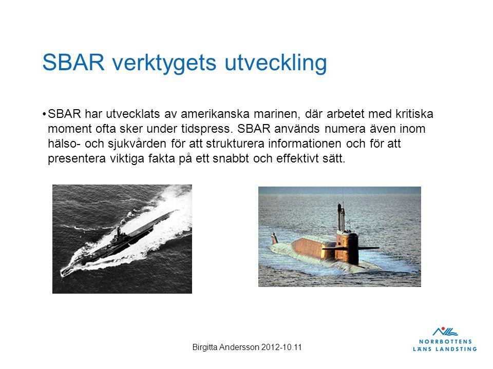 SBAR verktygets utveckling