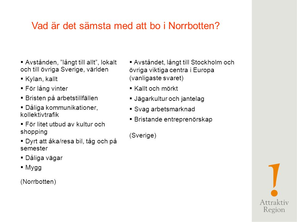 Vad är det sämsta med att bo i Norrbotten
