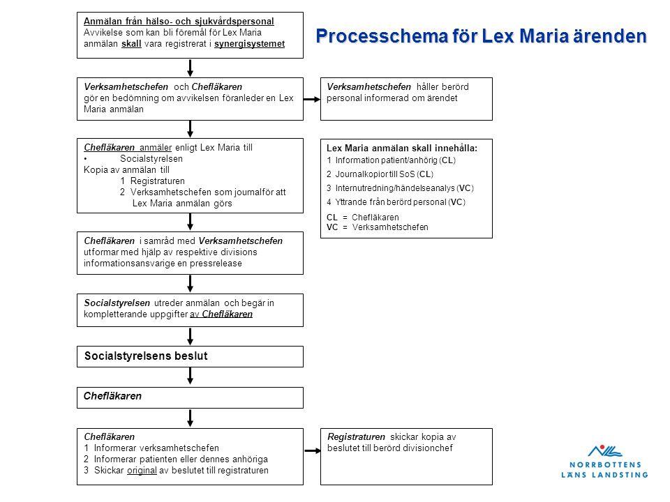 Processchema för Lex Maria ärenden